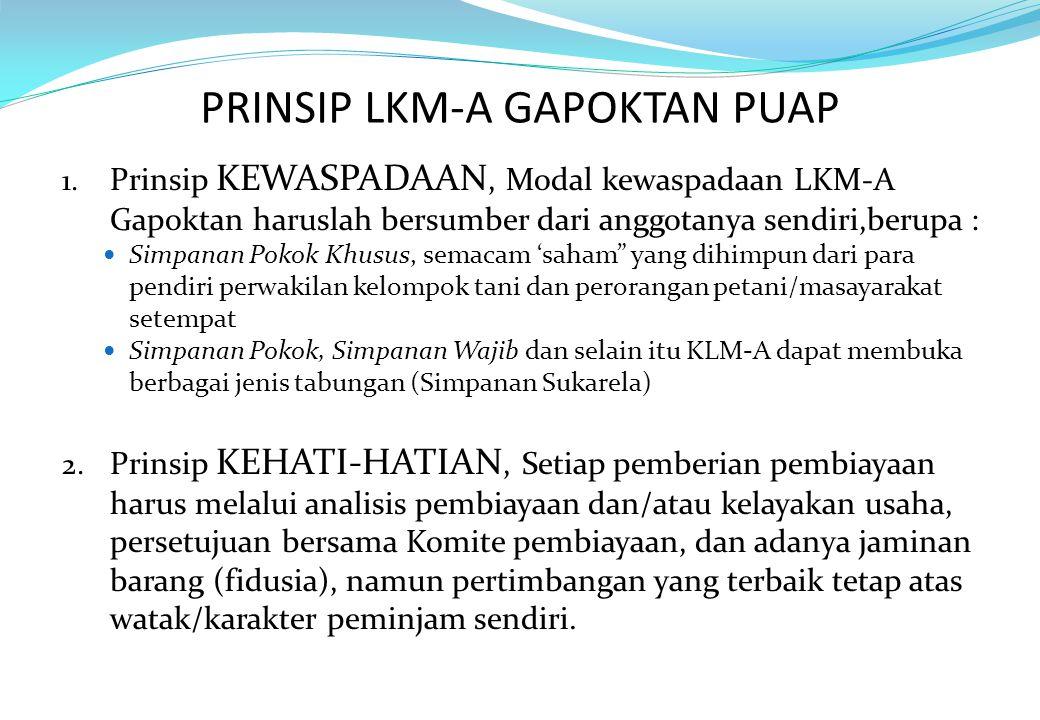PRINSIP LKM-A GAPOKTAN PUAP