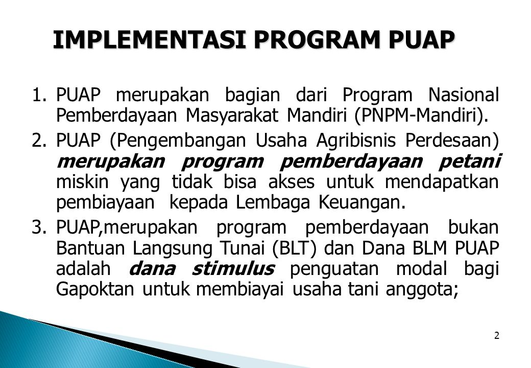IMPLEMENTASI PROGRAM PUAP