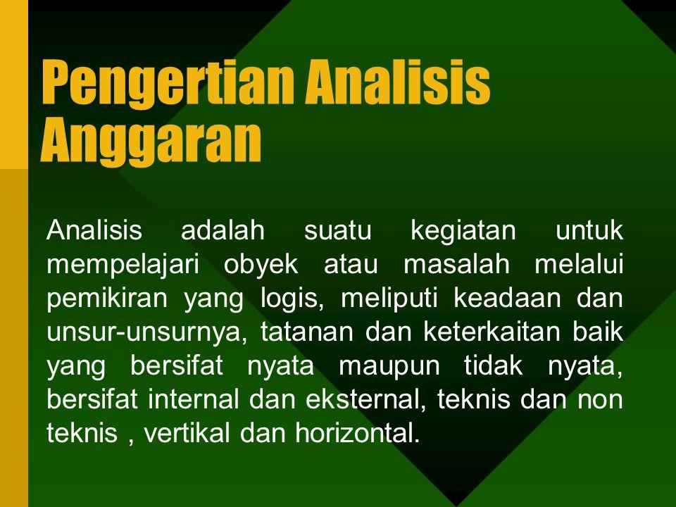 Pengertian Analisis Anggaran
