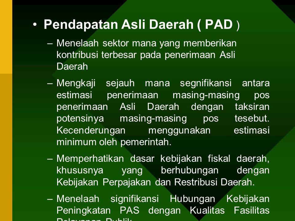 Pendapatan Asli Daerah ( PAD )