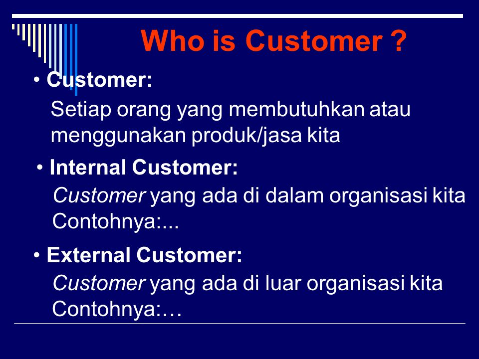 Who is Customer Customer: