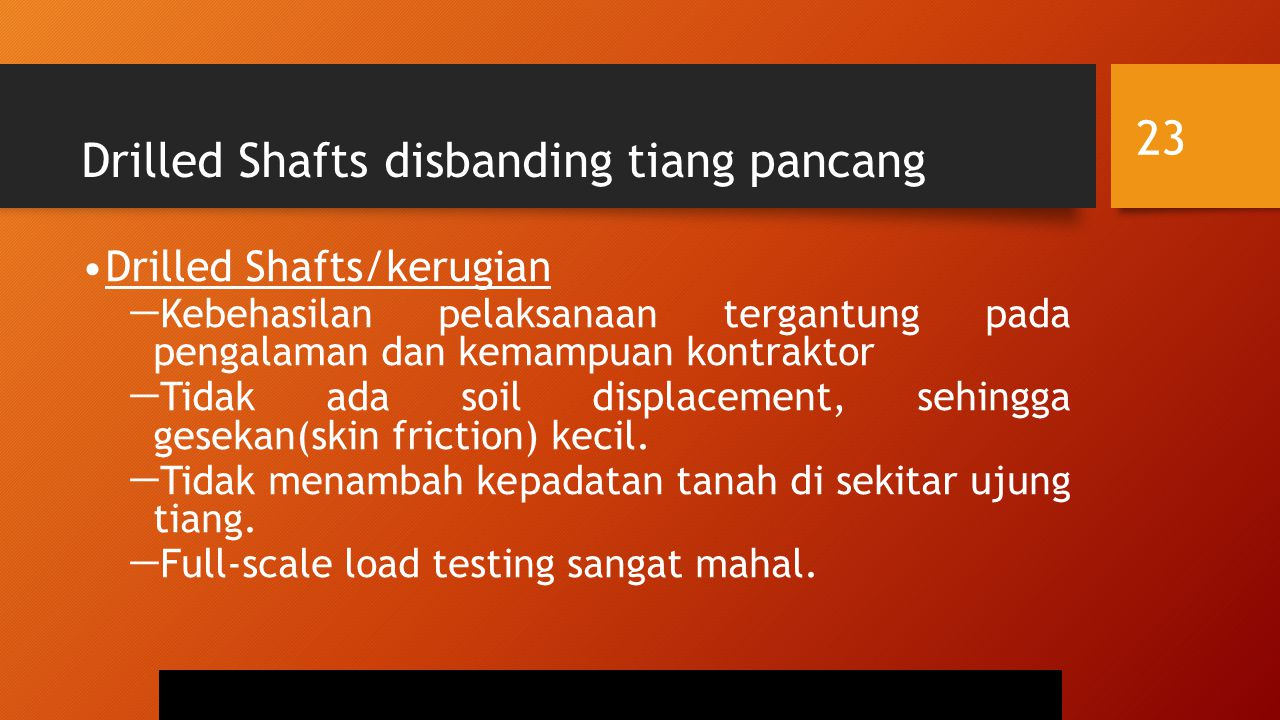 Drilled Shafts disbanding tiang pancang