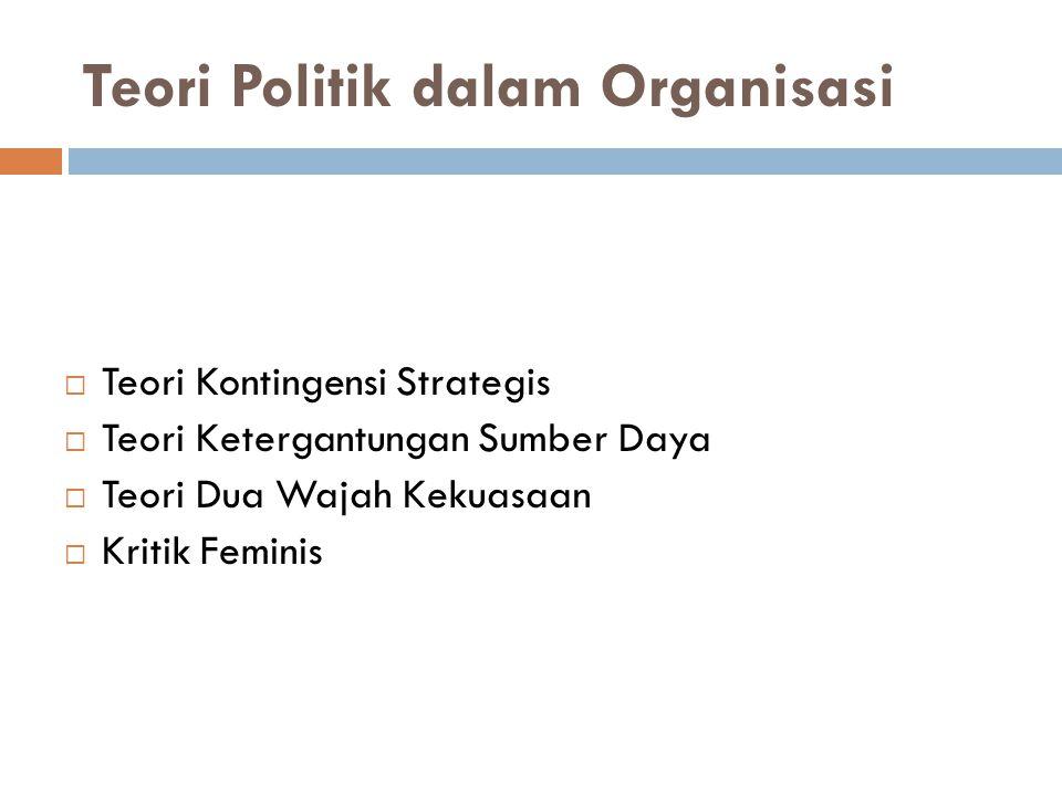 Teori Politik dalam Organisasi