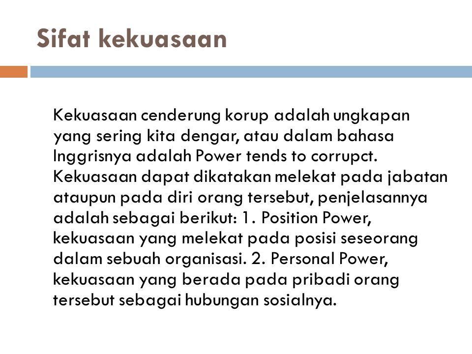 Sifat kekuasaan