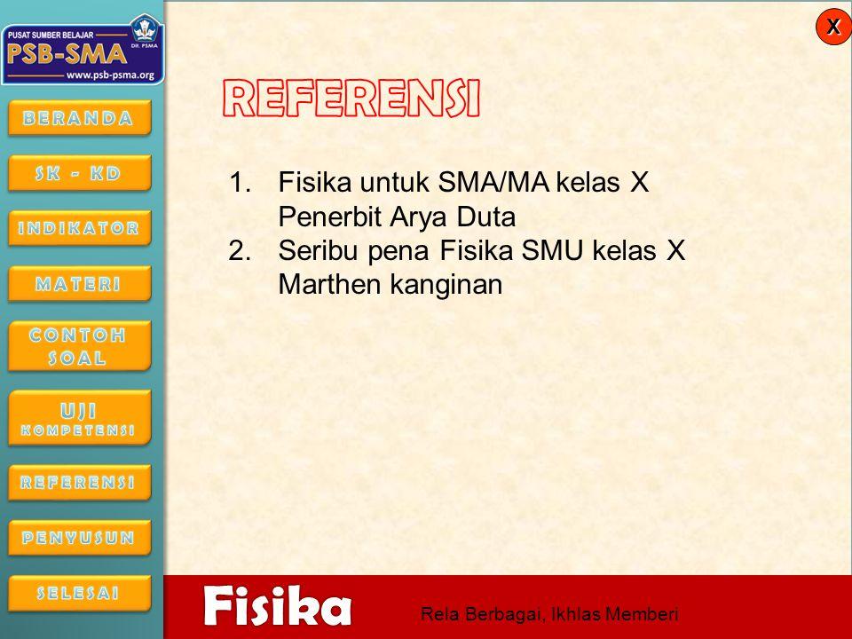 REFERENSI Fisika untuk SMA/MA kelas X Penerbit Arya Duta
