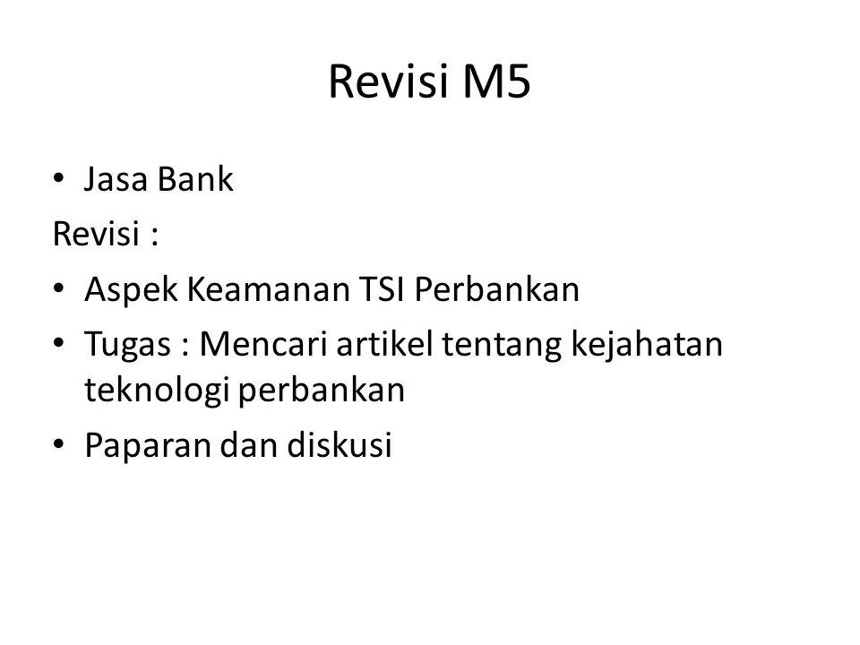Revisi M5 Jasa Bank Revisi : Aspek Keamanan TSI Perbankan