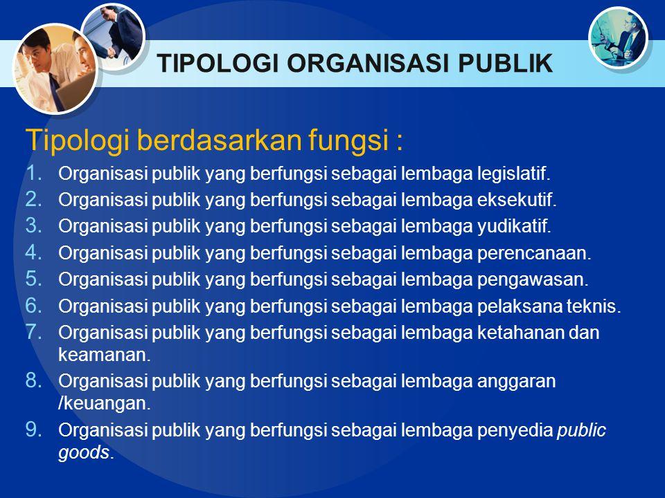 TIPOLOGI ORGANISASI PUBLIK
