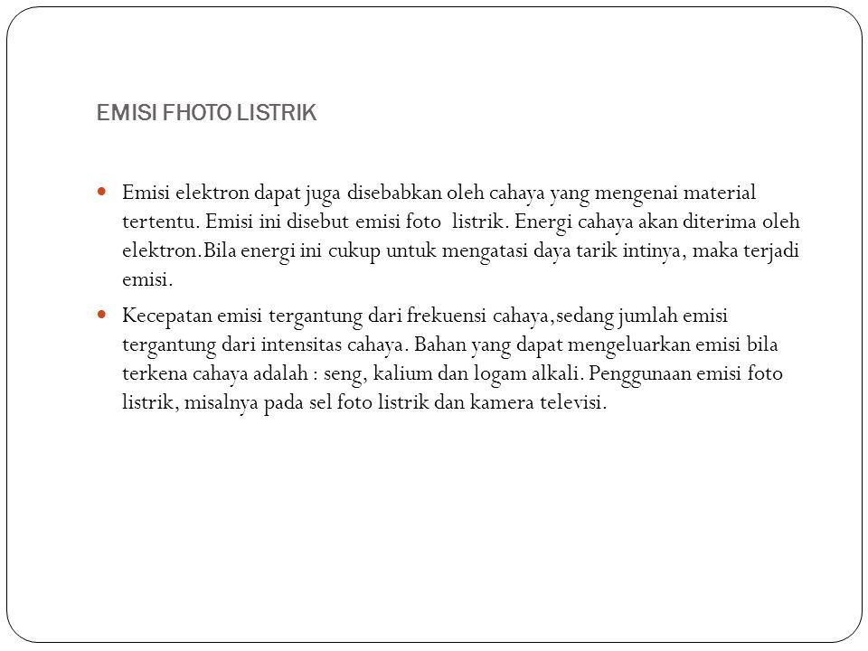 EMISI FHOTO LISTRIK