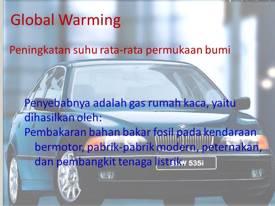 Global Warming Peningkatan suhu rata-rata permukaan bumi