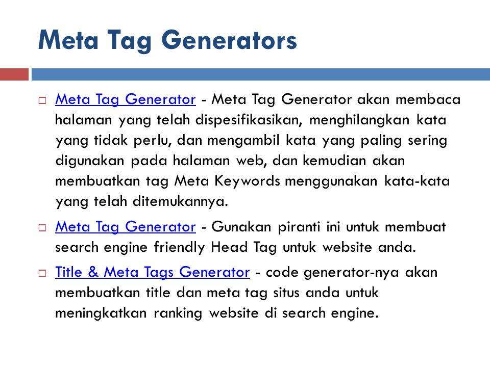 Meta Tag Generators