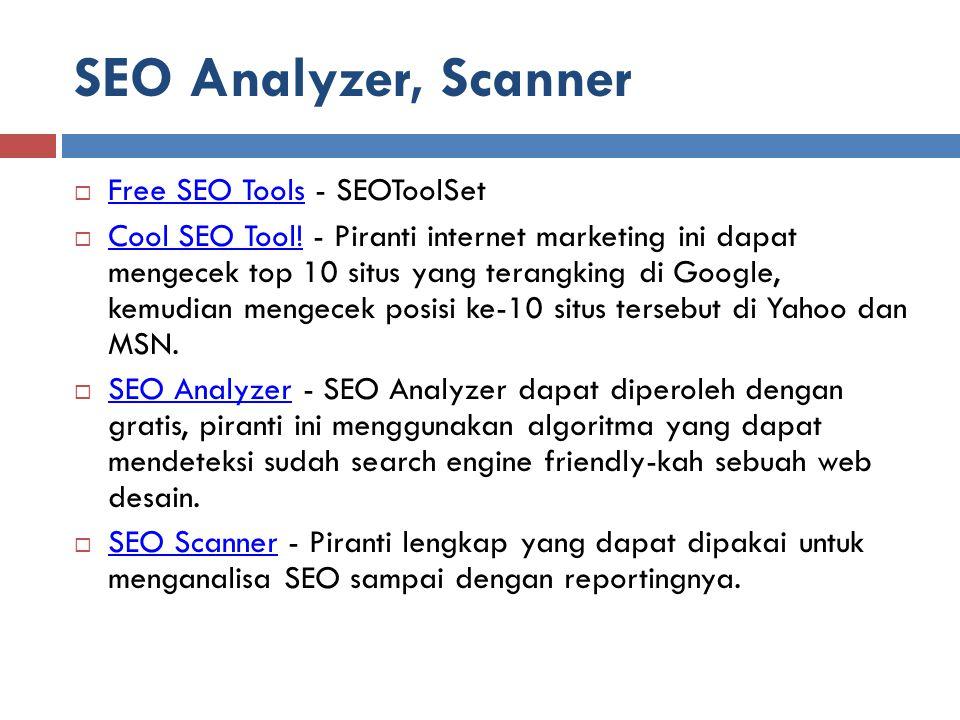 SEO Analyzer, Scanner Free SEO Tools - SEOToolSet