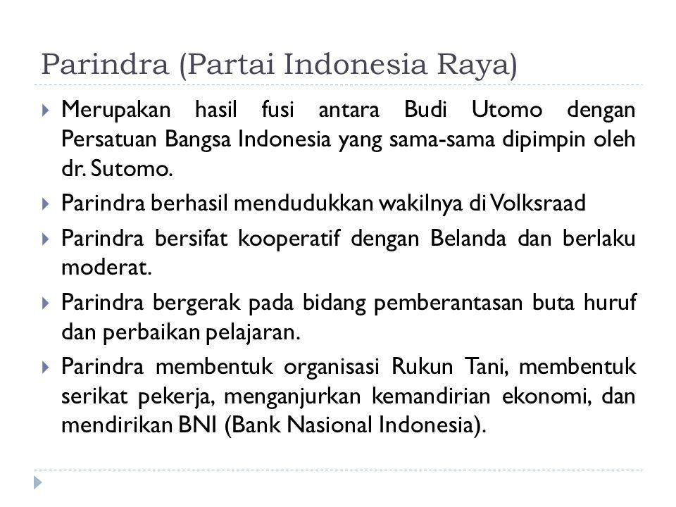 Parindra (Partai Indonesia Raya)