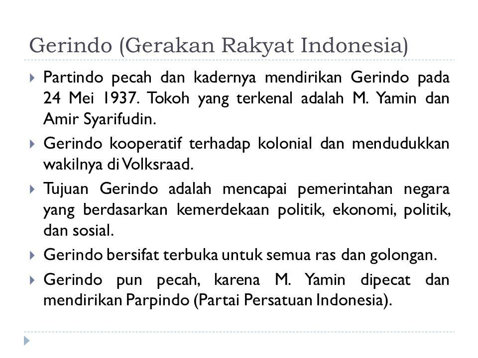 Gerindo (Gerakan Rakyat Indonesia)