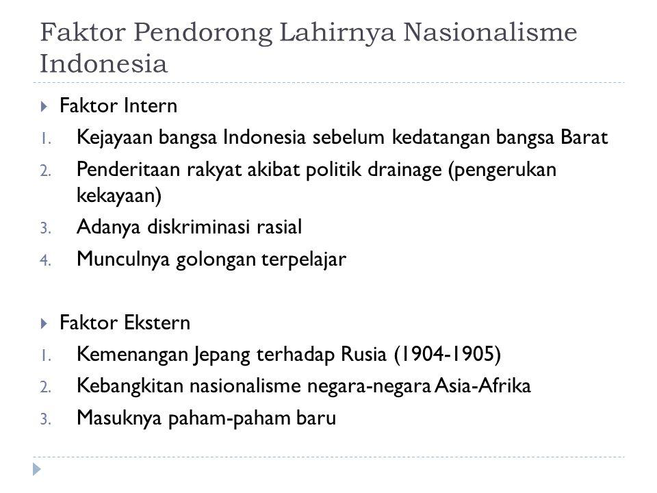 Faktor Pendorong Lahirnya Nasionalisme Indonesia