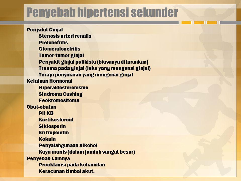 Penyebab hipertensi sekunder