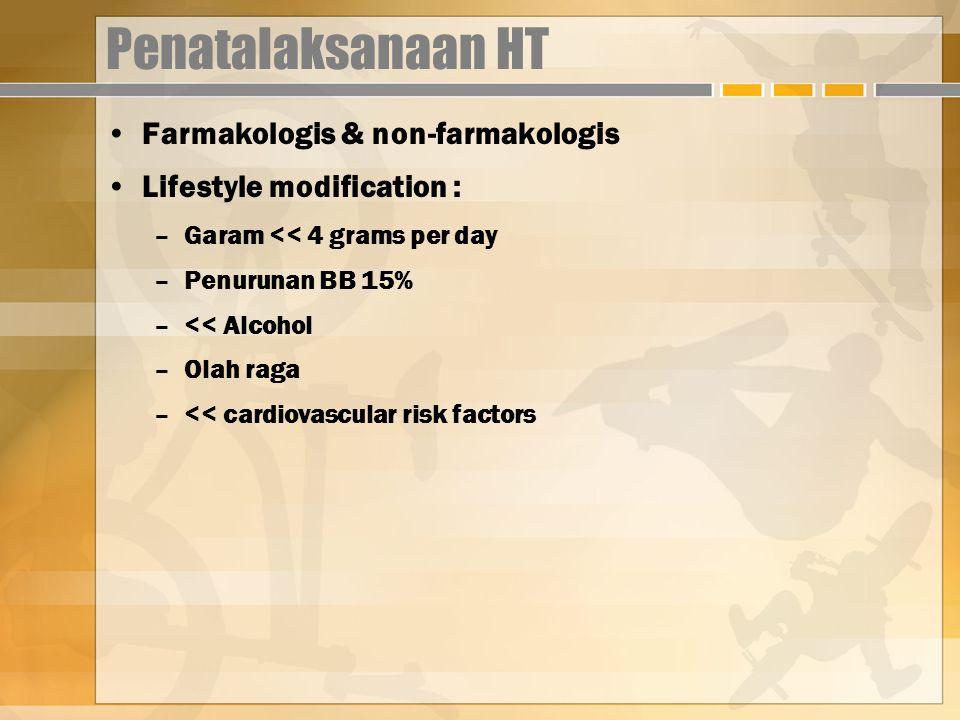 Penatalaksanaan HT Farmakologis & non-farmakologis