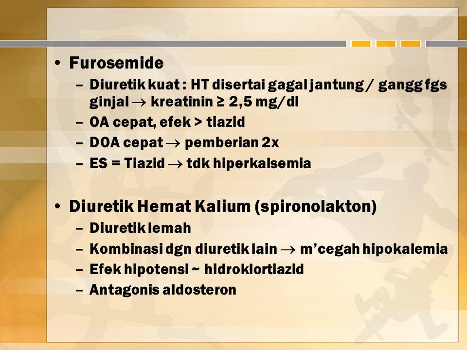 Diuretik Hemat Kalium (spironolakton)