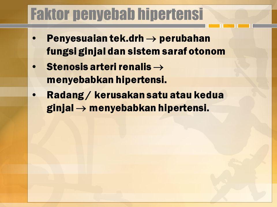Faktor penyebab hipertensi