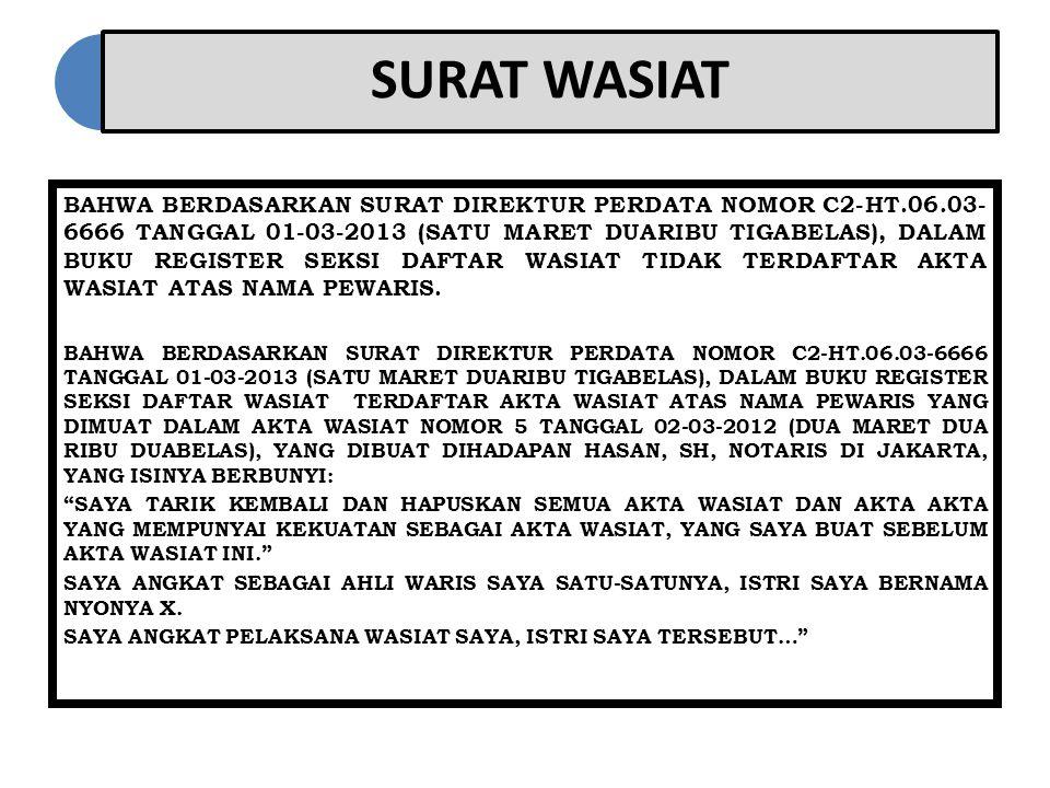 SURAT WASIAT