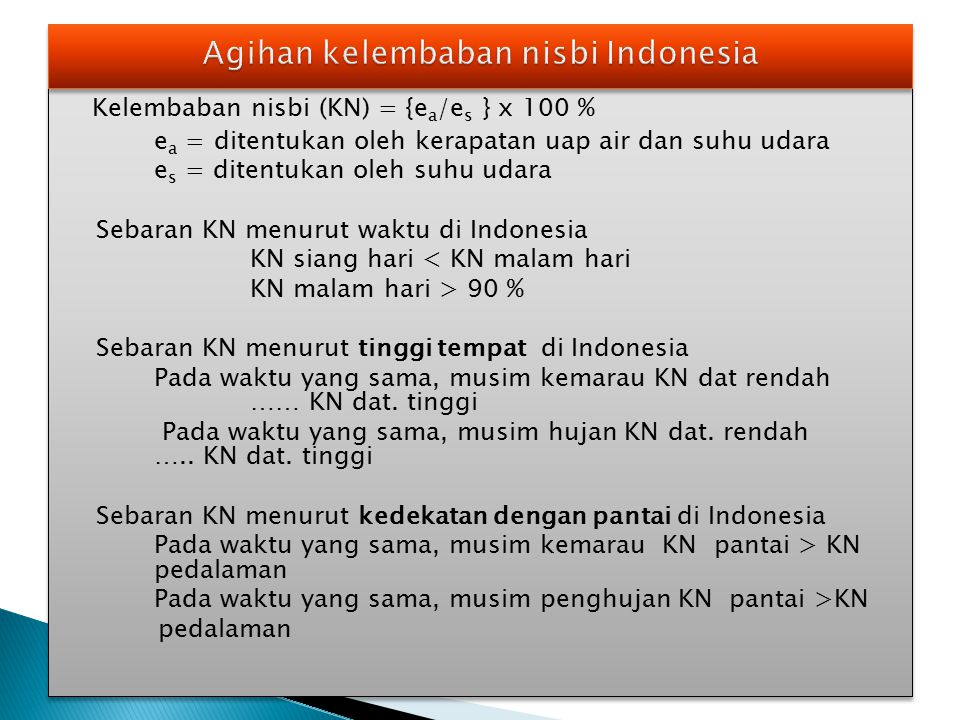 Agihan kelembaban nisbi Indonesia