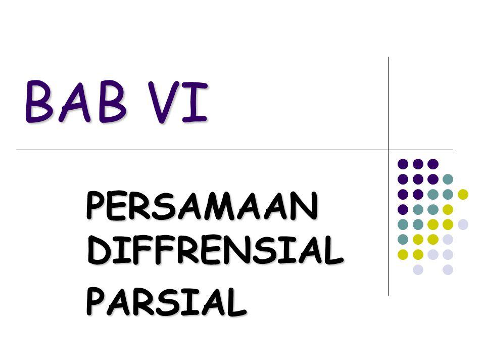 PERSAMAAN DIFFRENSIAL PARSIAL