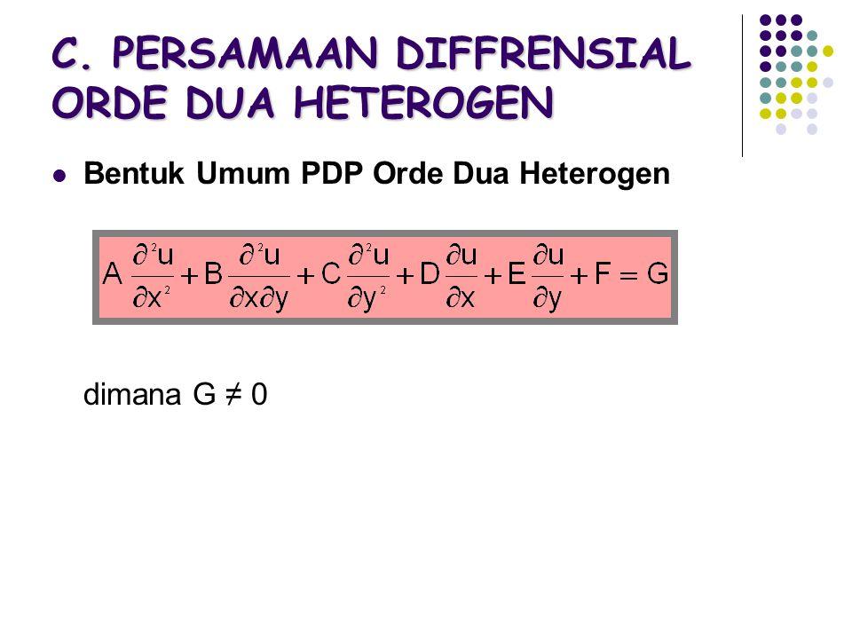 C. PERSAMAAN DIFFRENSIAL ORDE DUA HETEROGEN