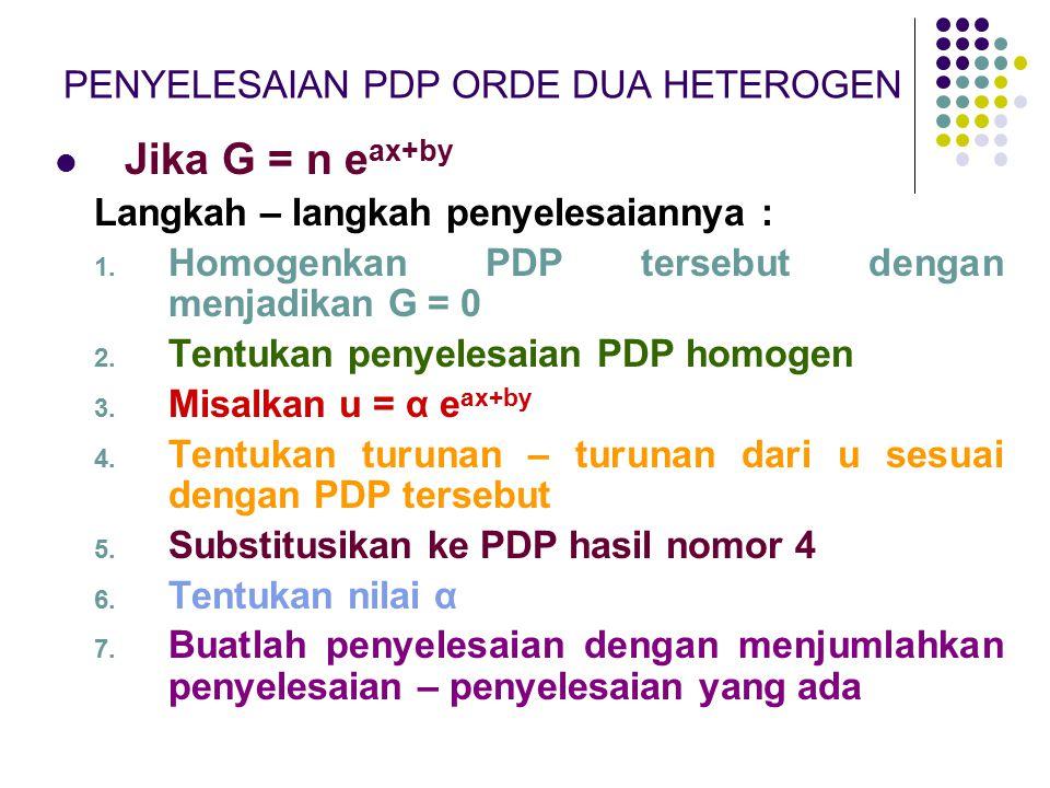 PENYELESAIAN PDP ORDE DUA HETEROGEN
