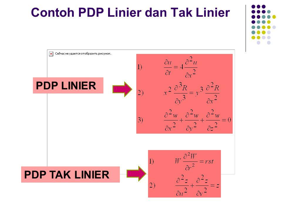 Contoh PDP Linier dan Tak Linier