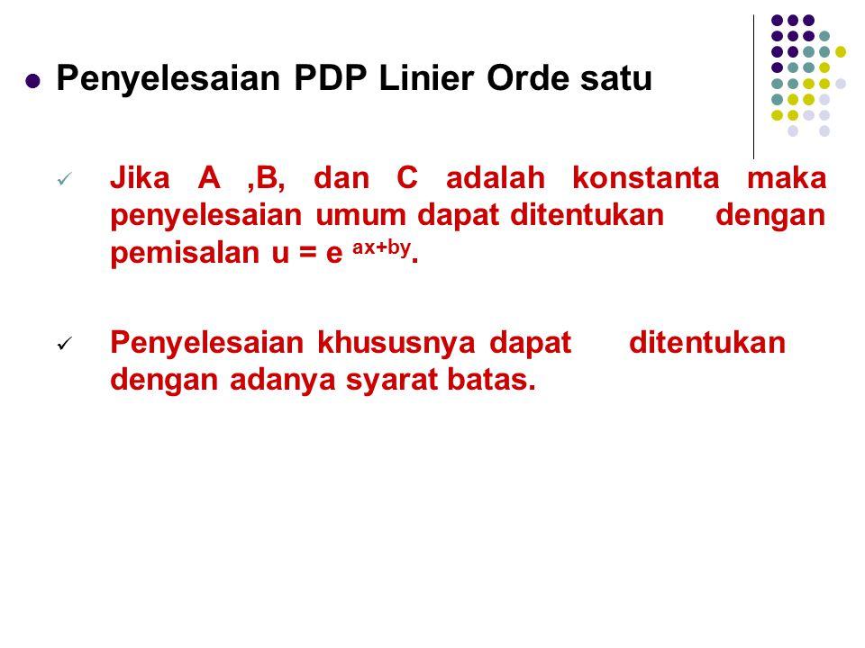 Penyelesaian PDP Linier Orde satu