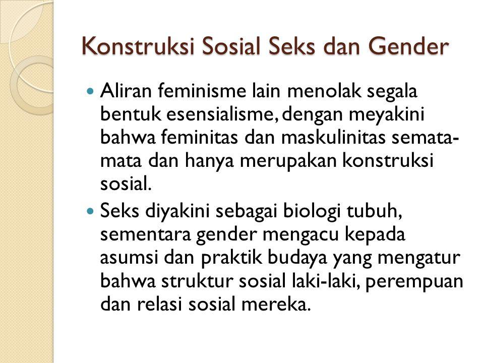 Konstruksi Sosial Seks dan Gender