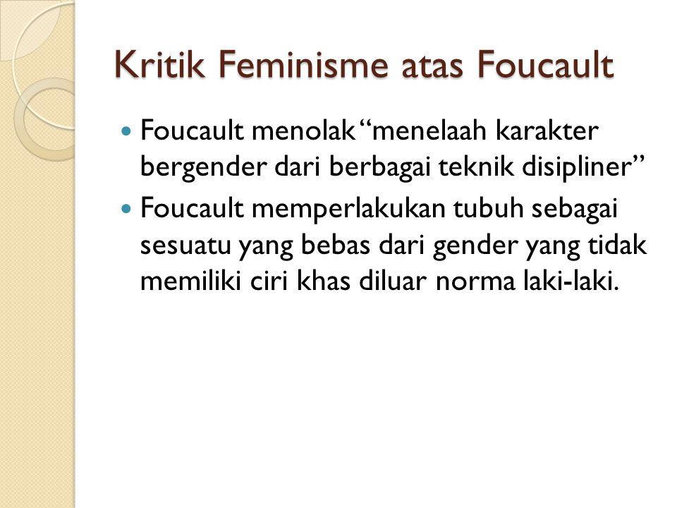 Kritik Feminisme atas Foucault