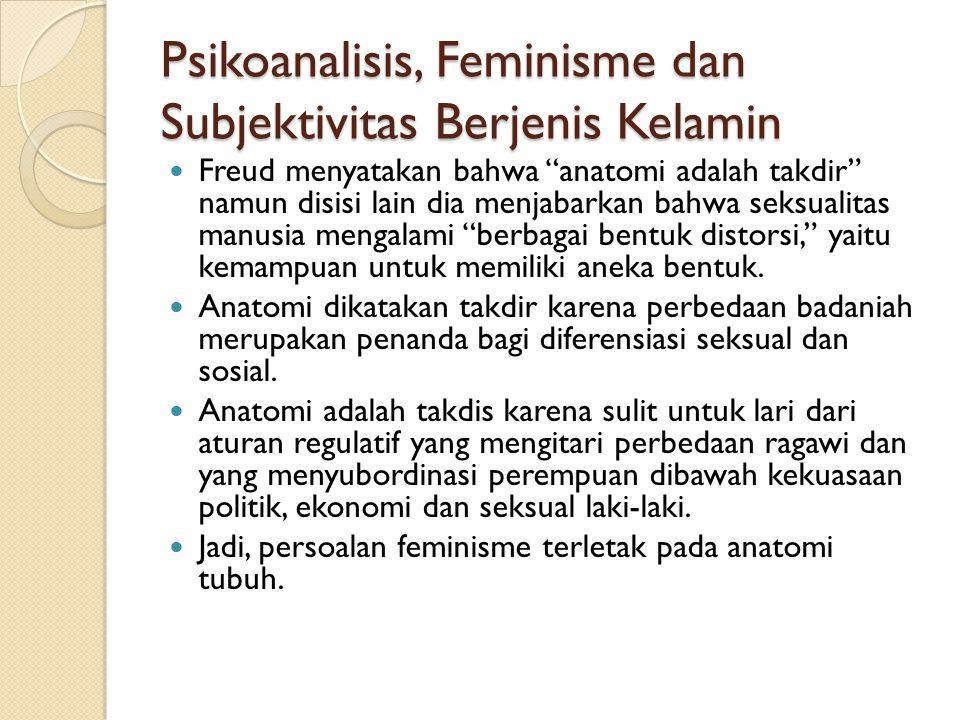Psikoanalisis, Feminisme dan Subjektivitas Berjenis Kelamin