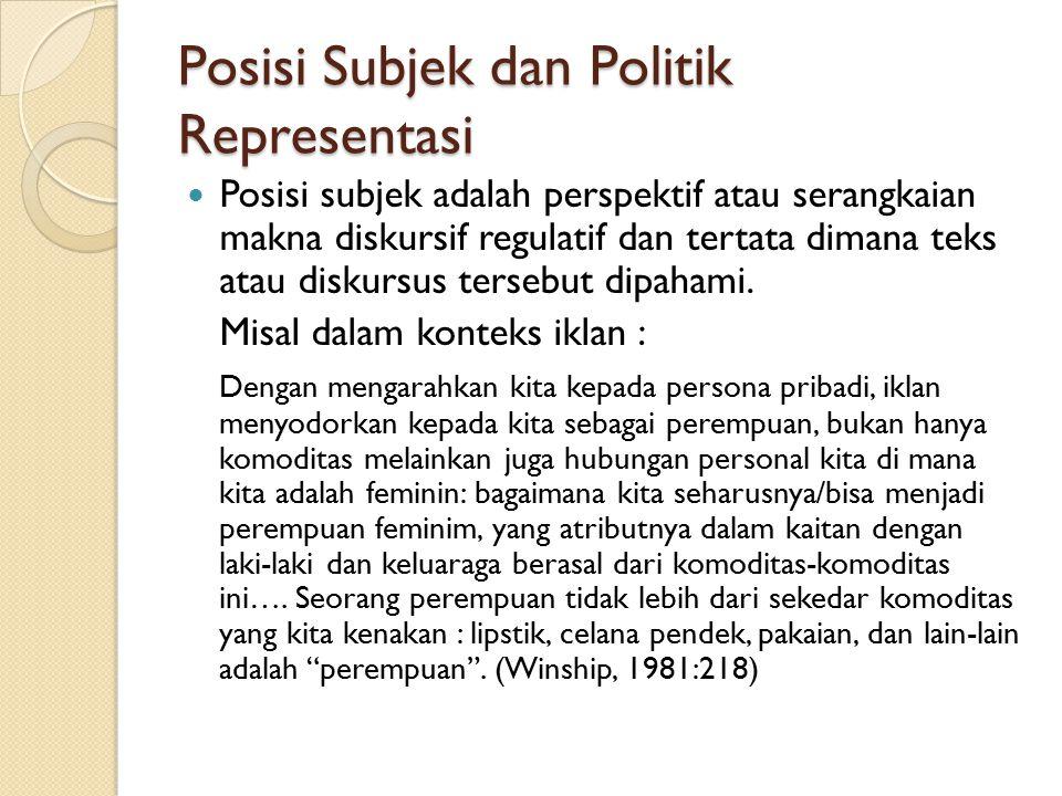 Posisi Subjek dan Politik Representasi
