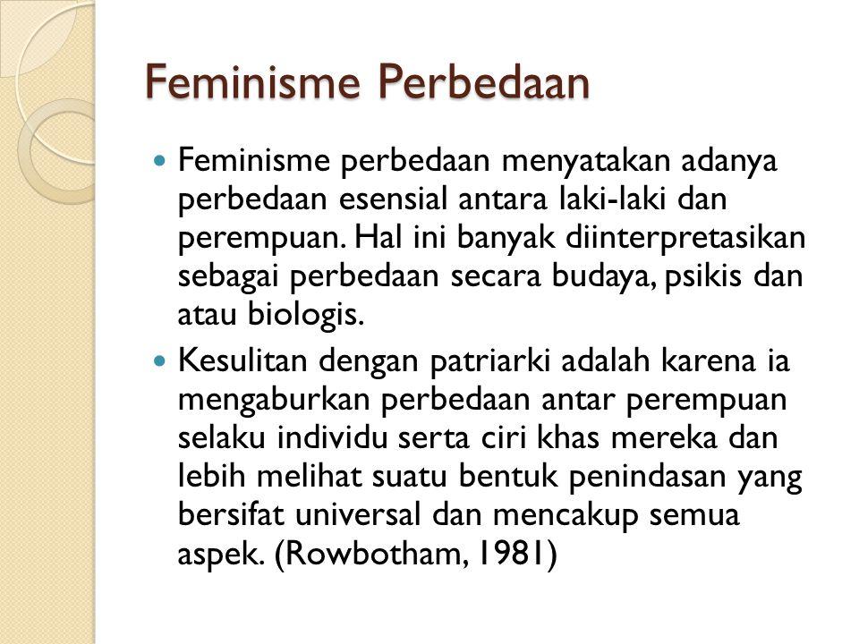 Feminisme Perbedaan