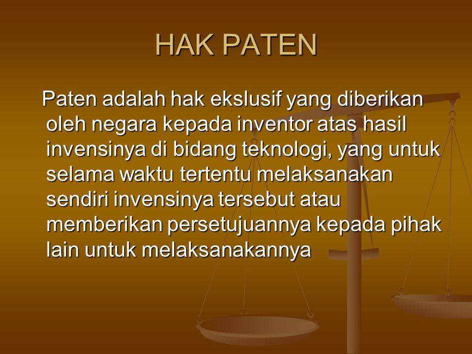 HAK PATEN