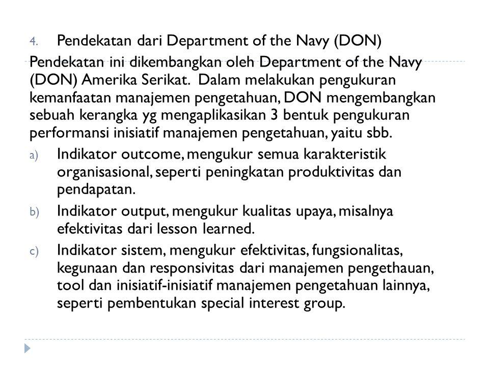 Pendekatan dari Department of the Navy (DON)
