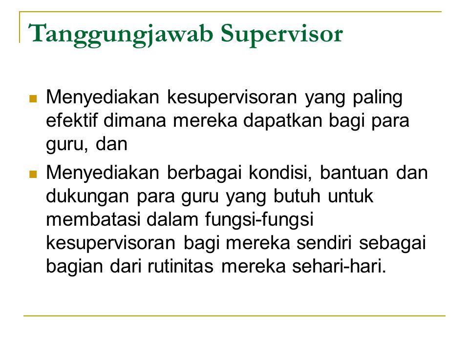 Tanggungjawab Supervisor