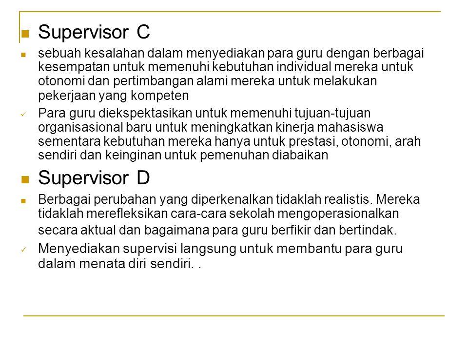Supervisor C Supervisor D