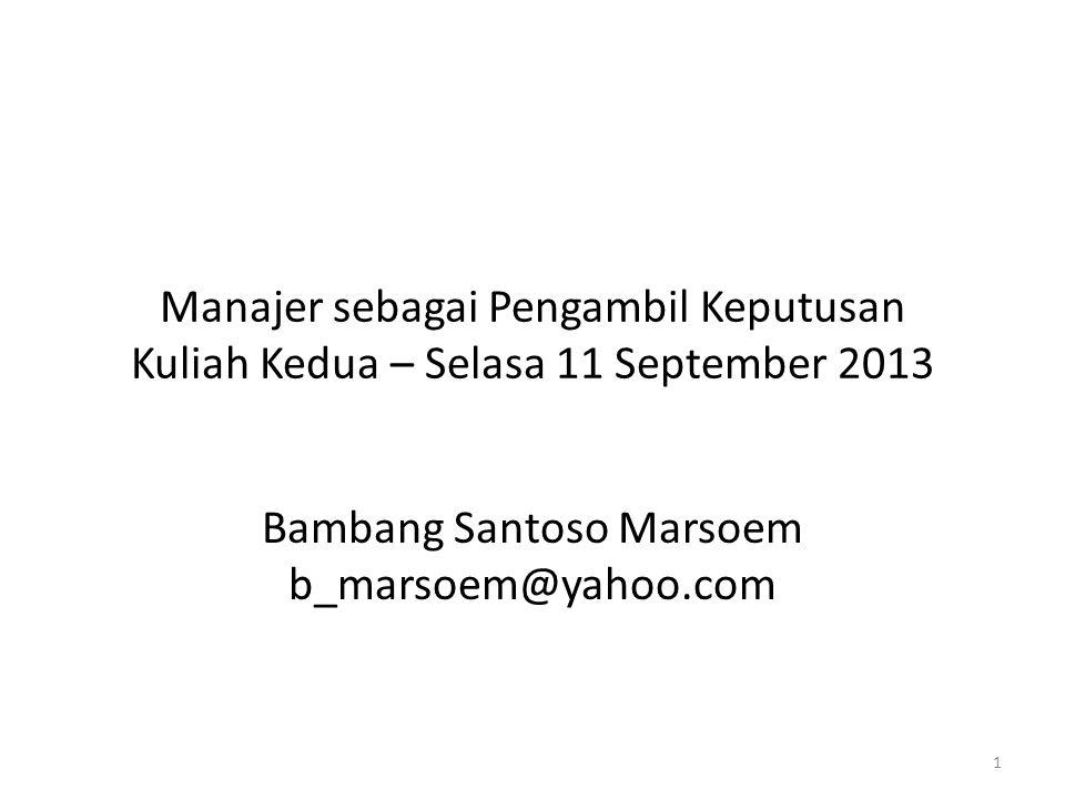 Bambang Santoso Marsoem b_marsoem@yahoo.com