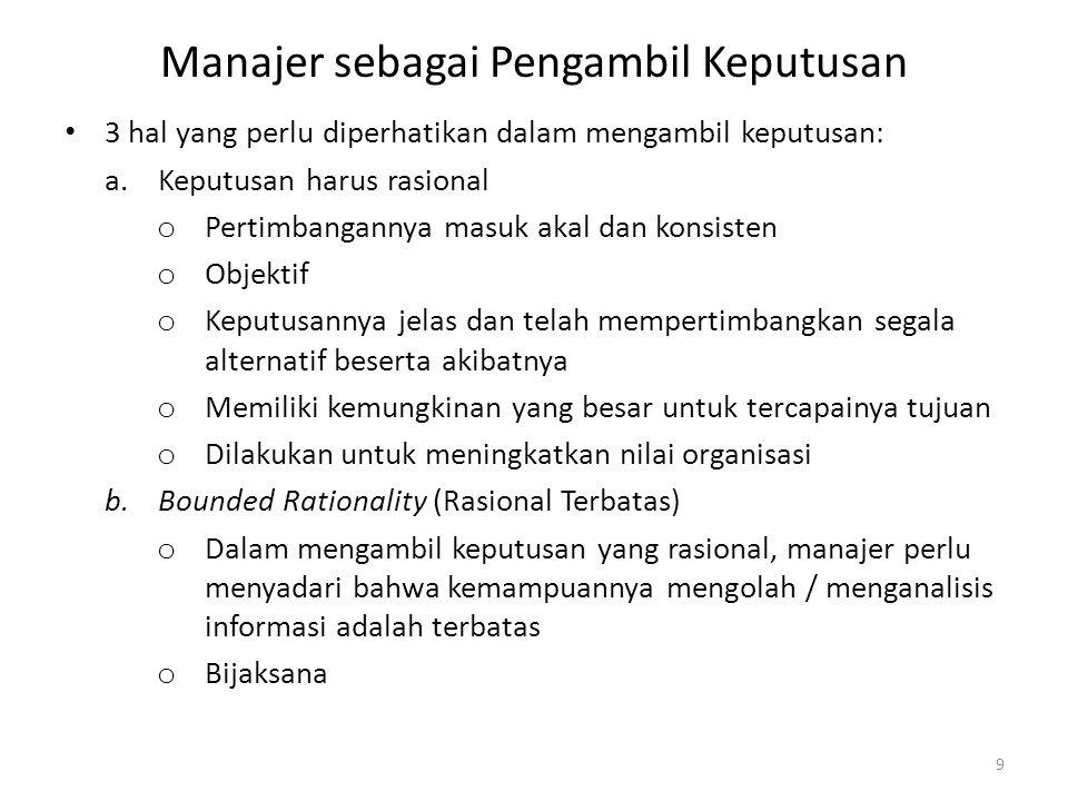 Manajer sebagai Pengambil Keputusan