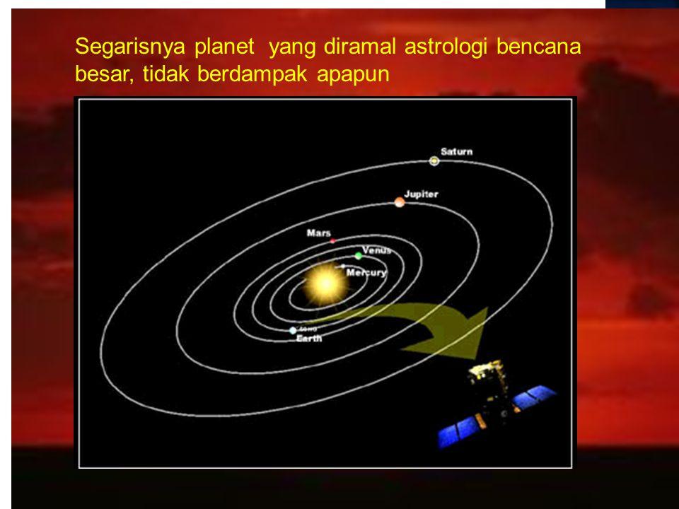 Segarisnya planet yang diramal astrologi bencana besar, tidak berdampak apapun