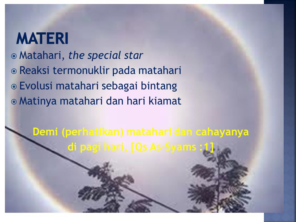 Materi Matahari, the special star Reaksi termonuklir pada matahari