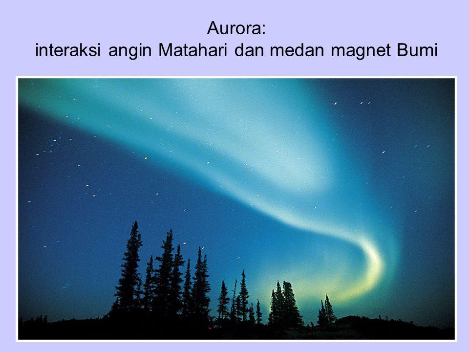 Aurora: interaksi angin Matahari dan medan magnet Bumi