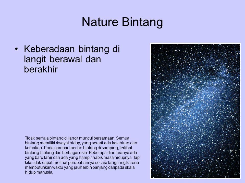 Nature Bintang Keberadaan bintang di langit berawal dan berakhir