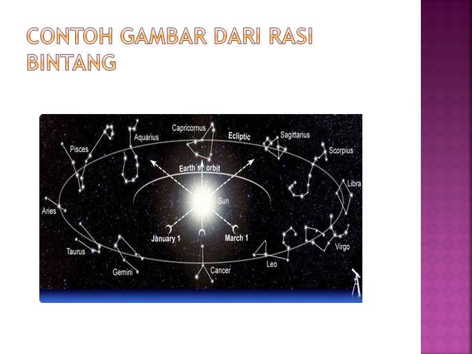 Contoh gambar dari rasi bintang