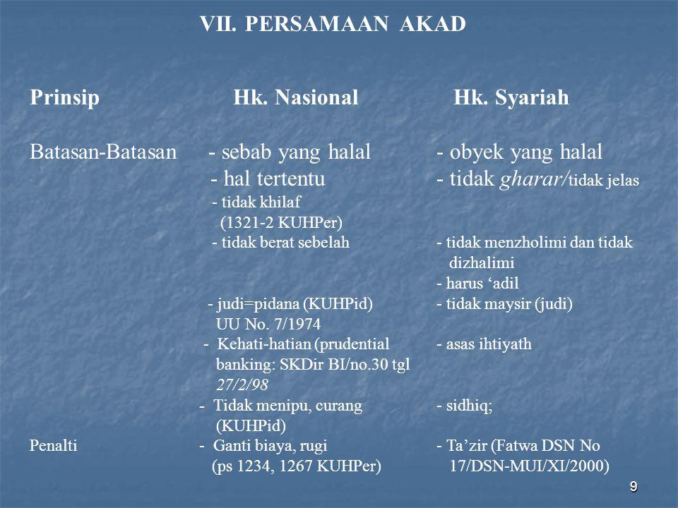 Prinsip Hk. Nasional Hk. Syariah