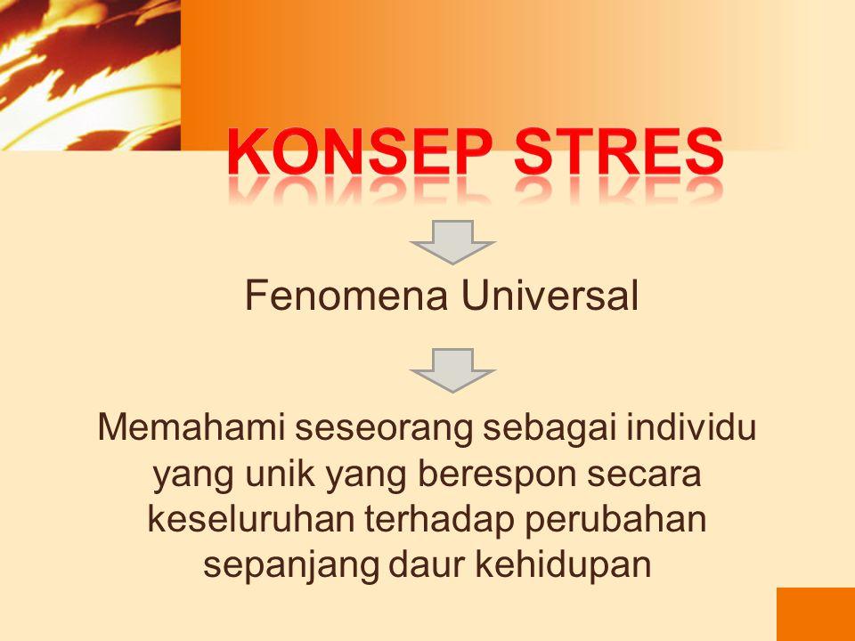 Konsep stres Fenomena Universal