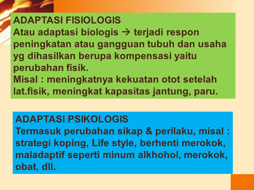 ADAPTASI FISIOLOGIS
