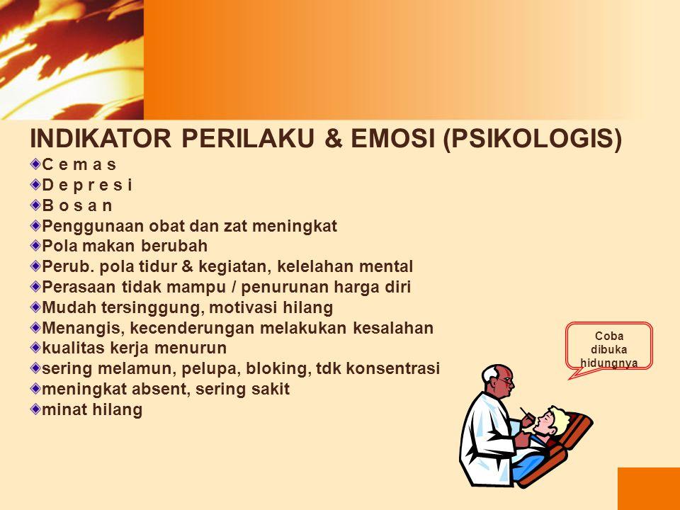 INDIKATOR PERILAKU & EMOSI (PSIKOLOGIS)