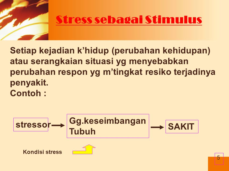 Stress sebagai Stimulus